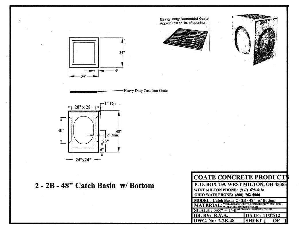Catch Basins Coate Concrete Products